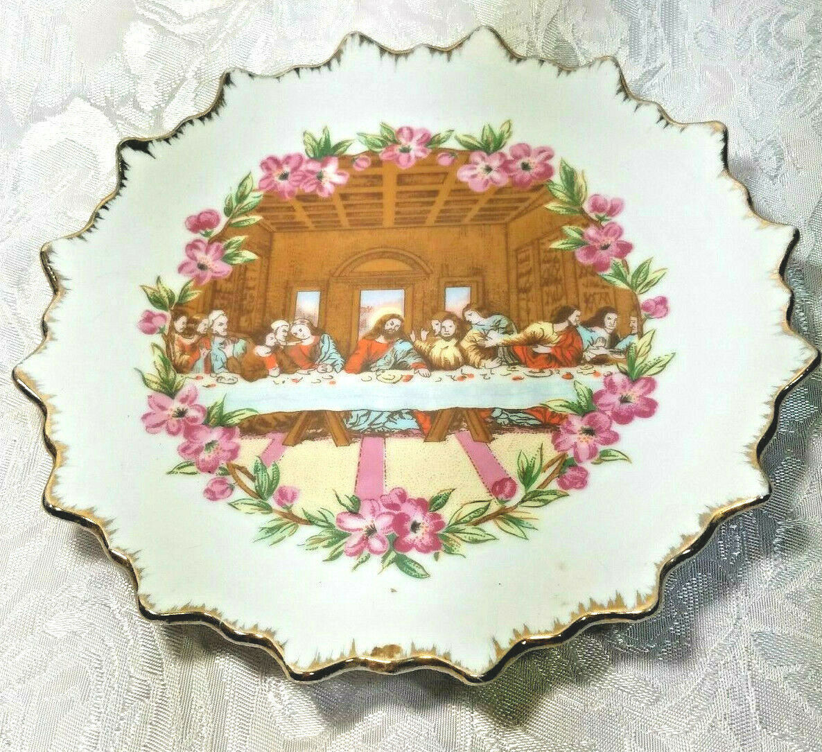 Vintage Last Supper - Decorative Plate for Walls 7""
