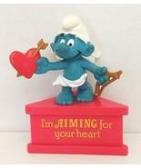 "Smurfs Valentine Cupid 3.25"" PVC Figure Peyo Schleich HK Used - $25.00"