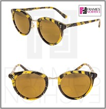 OLIVER PEOPLES ALAIN MIKLI SPELMAN Palmier Yellow Soleil Tropical Sungla... - $220.08