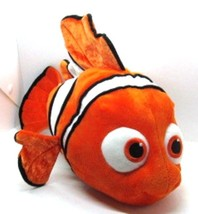 "Disney NEMO Orange & White Clown Fish 18"" long b 9"" tall Finding Nemo Plush - $11.87"