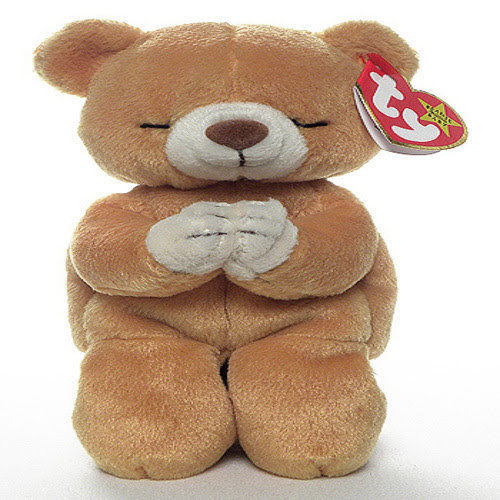303735a6faa Retired MWMT Original TY Beanie Babies HOPE the Praying Bear 7 inches 1998