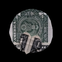 Origami Planet PLUTO Art Gift Money Handmade out of Real One Dollar Bill - $7.99