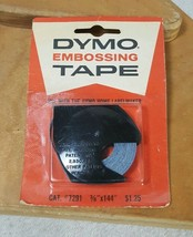"Vintage Dymo Embossing Tape 1964 New Sealed 3/8"" x 144"" Blue - $18.55"