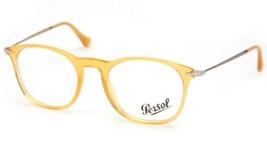 New Persol 3124-V 204 Yellow Eyeglasses Frame Glasses 48-19-140mm Italy - $142.56