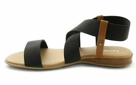 Kensie Womens Brianna Black Open Toe Strap Sandals New in Box image 2