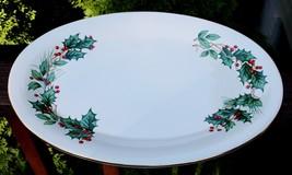 Distinctively Lefton Christmas Holly Berry Ceramic Serving Platter 2000 ... - $69.28