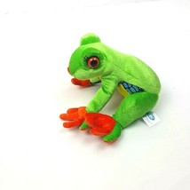 "Abc Bakers Plush Green Tree Frog Rainforest 2010 Stuffed Animal 7"" Build... - $20.79"