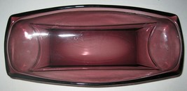 Hazel Atlas Amethyst Bowl Moroccan Purple Glass Relish Dish Celery Bowl  - $11.29