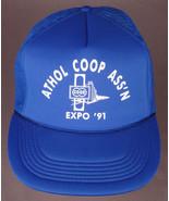 Vtg ATHOL COOP ASS'N Hat-Expo '91-Blue-Rope Bill-Snapback-Elevator-Kansa... - $24.30