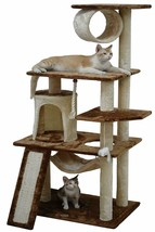 Cat Tree House Hut Cute Condo Kit Big Pet Tower  Scratching Post Kitten ... - $84.07
