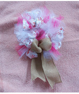 Christmas Mini Ribbon &Tulle Red & White Wreath... - $24.75
