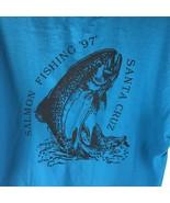 Vtg 90s T Shirt Salmon Fishing Santa Cruz Masterbaiter's Club 1997 - $27.67