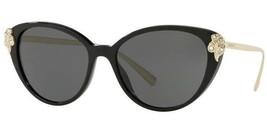 Versace sunglasses VE4351BA GB1/87 55mm Black Gold Grey Green VE4351 - $405.90