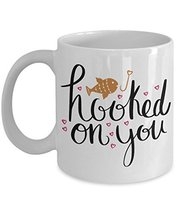 Hooked On You Valentines Lover Coffee Mug - Funny Valentine Ceramic Trav... - $14.95+