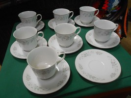 """Outstanding CARLTON China """"Corsage"""" Set 7 CUPS ... - $35.23"""