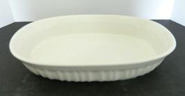 Corning Ware French White 23 Oz. Stoneware Oval Bake & Serve Dish No Lid - $18.69