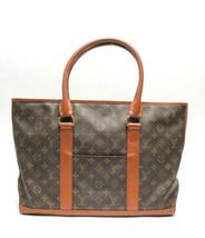 Auth Louis Vuitton Monogram Handbag Brown Sac Week-end PM Inner Pockets ... - $347.49