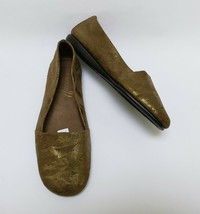 Aerosoles Womens Shoes Flats Slip On Mr Softee Metallic Gold Size US 9 M - $39.55