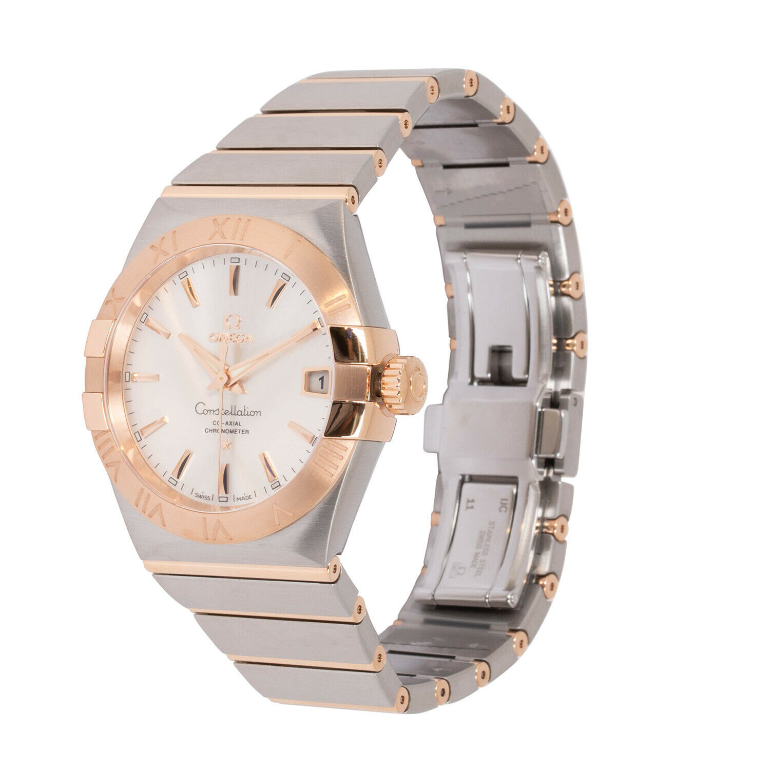 OMEGA Constellation 12320382102001 Co-Axial Mens Silver Gold Two Tone 38mm Watch