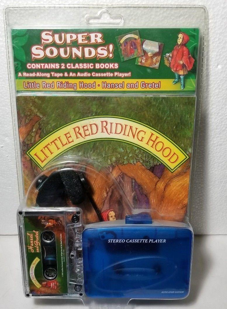 SUPER SOUNDS LITTLE RED RIDING HOOD VINTAGE CASSETTE TAPE PLAYER HANSEL GRETEL - $45.49