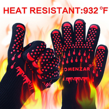 BBQ Gloves,Cooking Gloves Oven Mitts Heat Resistant 932°F for Kitchen Po... - $26.75