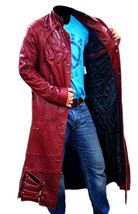 Guardians Of Galaxy Star Lord Chris Peter Quill Costume Leather Trench Coat image 6