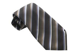 John Ashford Men's EDI Stripe Machine Washable Neck Tie Brown / Tan - $16.82