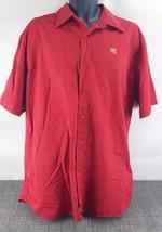 McDonald Fast Food Chain Crew Employee Work Mens Dress Shirt Size XL - $13.81