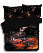 NEW! Flaming Skull Fire Novelty Duvet Cover Set Twin, Full/Queen and Kin... - $129.95+