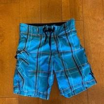 HURLEY BLUE SWIM TRUNKS SIZE 4T - $23.76
