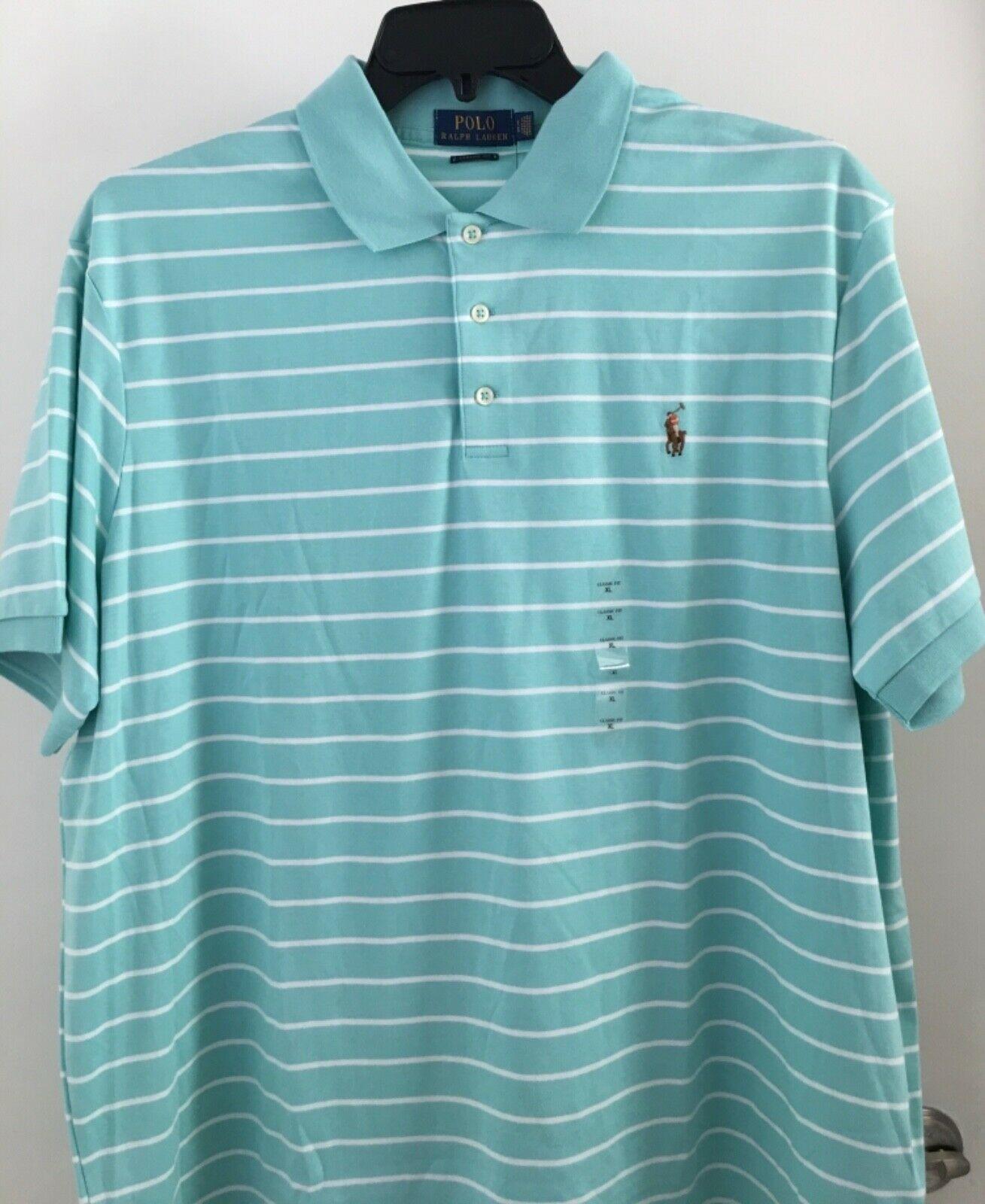 Polo Ralph Lauren Mesh Polo Shirt Short Sleeve Blue w// Big Pink Pony XXL NWT