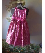 American Princess Girls Pink Sequin Sleeveless Occasion Dress Size 6X - $29.69