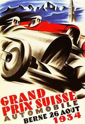 Primary image for 1934 Swiss Grand Prix Race - Promotional Advertising Poster