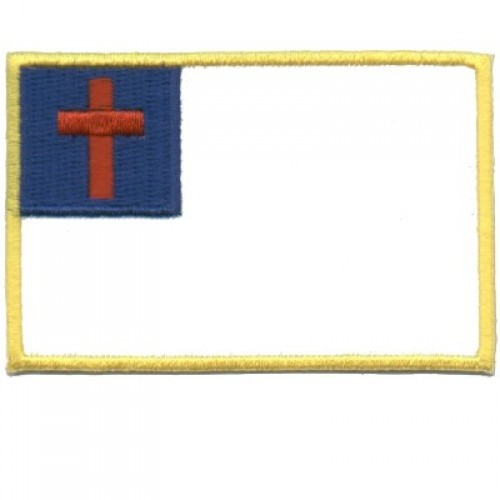 Embroidered Christian Patch Christian Flag Patch
