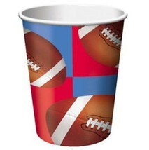 All Star Football 9 oz Beverage Drink Paper Cups 8 Per Package Party Supplies - $2.23
