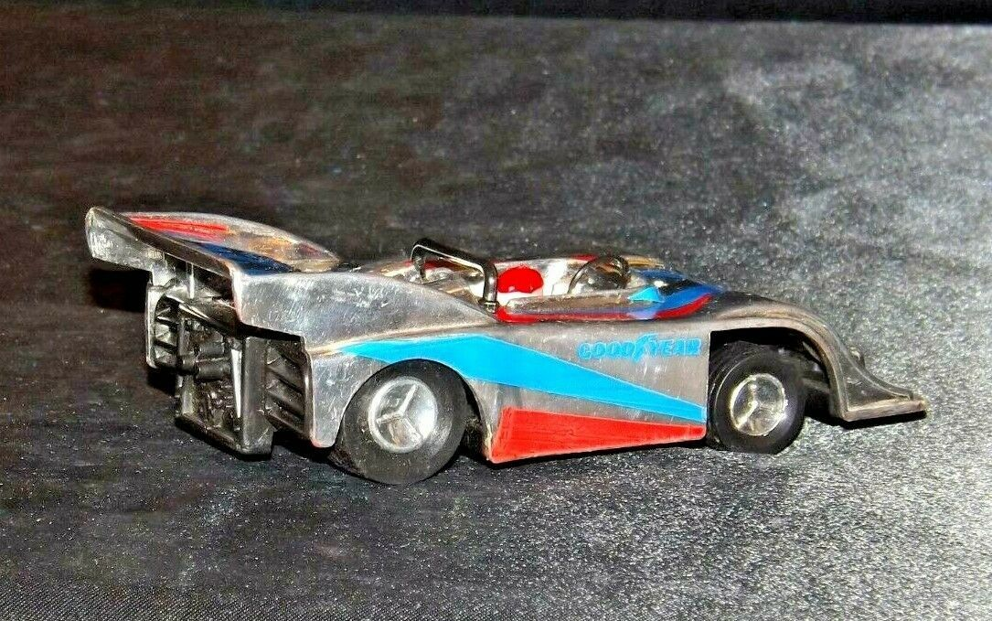 Silver and blue and red #25 Racecar with Driver AA19-1508 Vintage