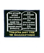 Embroidered Christian Patch They're Not The Ten Suggestions Patch - $3.95
