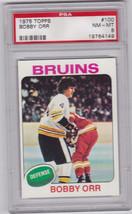 Bobby Orr 1975 - 1976 Topps #100 Hockey Card Graded PSA 8 NM-MT - $49.95