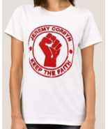 Keep The Faith ladies t-shirt 100% jeremy corbyn northern soul labour po... - $27.00