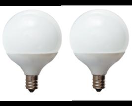 GE LED G16 40 Watt Light Bulb Frosted Globe Candelabra Base Dimmable 350 Lumens - $16.68