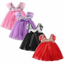 Baby Girl Sequin Princess Tutu Dress Newborn Kids Party Birthday Dress Baby - $12.46+
