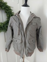 EMPYRE Clothing Co. Mens Brown Zip Up Hooded Jacket Size Large - $39.59