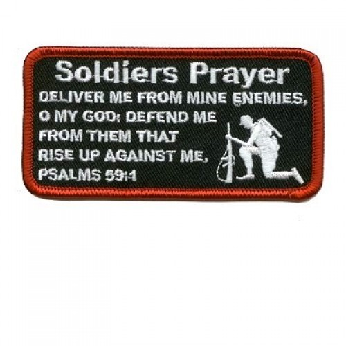 Embroidered Christian Patch Soldiers Prayer Patch