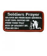 Embroidered Christian Patch Soldiers Prayer Patch - $3.95
