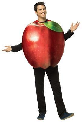 Apple Adult Costume Women Men Tunic Red Food Fruit Halloween Unique GC6830