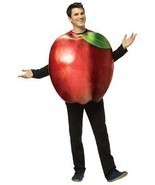 Apple Adult Costume Women Men Tunic Red Food Fruit Halloween Unique GC6830 - $70.66 CAD
