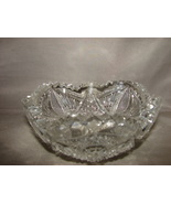 Vintage Alig Imperial Pressed Glass Nucut Sawtooth Pickle Candy Nut Bowl... - $16.00