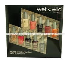 WET N WILD* 10pc Nail Polish/Color WILD SHINE Set/Lot ALL ACCESS BEAUTY ... - $9.98