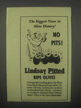 1940 Lindsay Pitted Ripe Olives Ad - The biggest news in Olive History! ... - $14.99