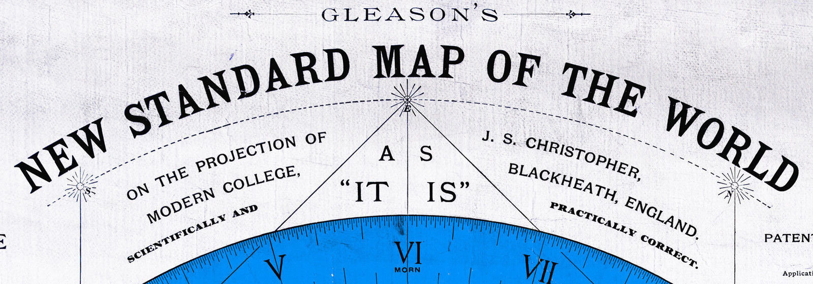Flat Earth Map Alexander Gleason 1892 New And 14 Similar Items